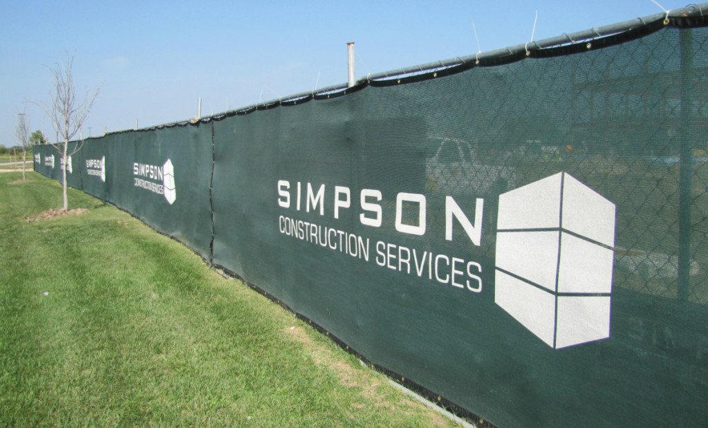 fence screen logos construction simpson